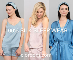100% Silk Sleep Wear - Cloroom