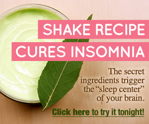 Shake Recipe Cures Insomnia