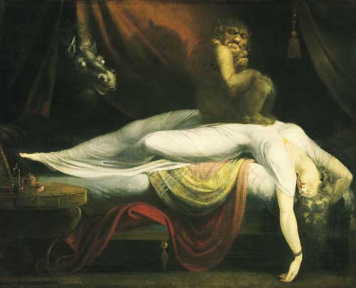 Sleep Paralysis Depiction by Johann Heinrich Füssli in
