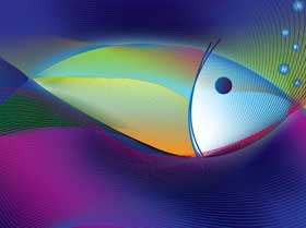 Illistration of colorful fish